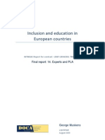 Inclusion and Education in European Countries - Experts and PLA