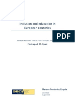 Inclusion and Education in European Countries - Spain Report