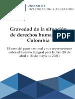 Gravedad de la situación de derechos humanos en Colombia
