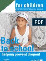 UNICEF Romania Back to School