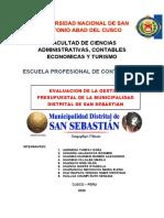 Evaluacion Presupuestal de la Municipalidad de San Sebastian