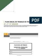 PLAN ANUAL DE TRABAJO DE TECNOLOGÍAS 1°, 2° Y 3° GRADOS