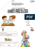 proyecto EXPERIMENTO Y APRENDO CON LA CIENCIA 6TO A