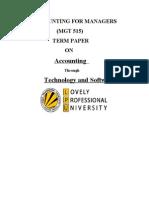 Copy of termpaper of  accounts