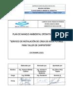PMAO DE SERV. INST. DE LÍNEA DE AGUA POTABLE TALLER DE CARPINTERÍA MMP V5 Micon JContreras 16Dic20