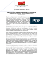 projeto resolução do PCP