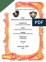 DELITOS DE LA FUNCION MILITAR POLICIAL TELLO MACEDO