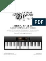Virtual Piano Music Sheet Aug Sep