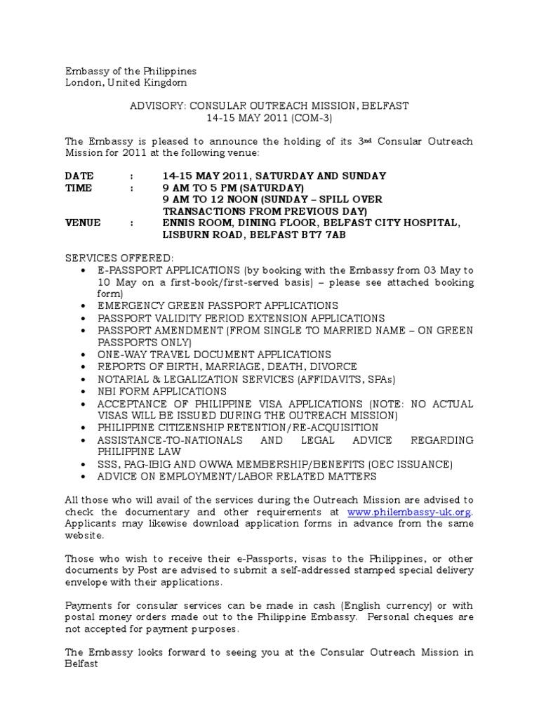 Booking form belfast 2011 travel visa passport falaconquin