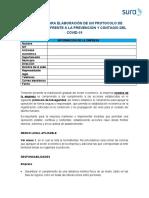 Plantilla Protocolo Bioseguridad Covid 19