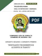 SGTO. 2DO. A SGTO. 1RO. - INVESTIGACION Y PROCEDIMIENTOS EN MATERIA DE TRANSITO