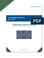 PLAN ESTRATEGICO INSTITUCIONAL DEL MRE PEI 2013 - 2017 RM 685