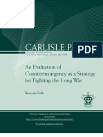 An Evaluation of Counterinsurgency as a Strategy for Fighting the Long War