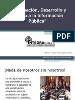Igualdad de Oportunidades en el acceso a la Información para Personas con Discapacidad