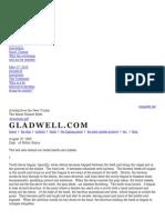 gladwell dot com - the moral hazard myth