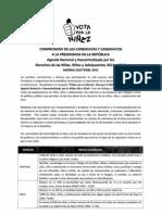 Agenda Nacional por la Niñez firmada por el candidato Ricardo Noriega