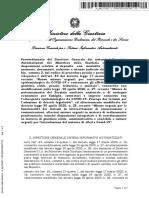 Ministero della Giustizia - provvedimento 11 maggio 2020