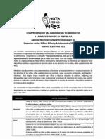 Agenda Nacional por la Niñez firmada por el candidato Humberto Pinazo