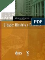 Lucia Lippi Oliveira_Livro Cidade História e Desafios