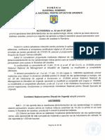 Hotărârea nr. 43 din 1 iulie 2021 a Comitetului Național pentru Situații de Urgență