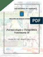 Farmacologia y Terapeutica Veterinaria II