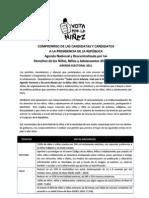 Agenda Nacional por la Niñez firmada por el candidato Pedro Pablo Kuczynski