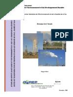 Etude Des Effets Sanitaires Et Environnementaux Dus Aux Emissions Gazeuses