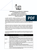 Agenda Nacional por la Niñez firmada por el candidato Manuel Rodríguez Cuadros