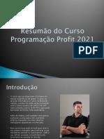 Mini Ebook - Curso Programação Profit 2021