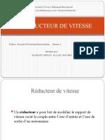 LES REDUCTEUR DE VITESSE