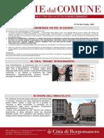 Notizie Dal Comune di Borgomanero del 2-07-2021