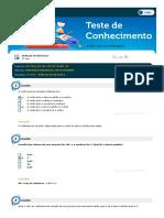 Análise Estatística - Simulado (5)
