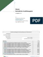 Betrieblicher Aublaufsplan | Fachinformatiker*in für Anwendungsentwicklung