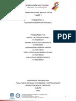 TALLER 3 ensayo  ADMINISTRACION DE BASE DE DATOS