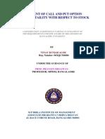 Call & Put Option Price Volatility Wrt INDEX