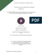 Economic Value Added (EVA) of Sample Companies