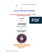 Efficiency of Commodity Futures Market