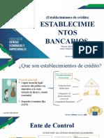 establecimientos bancarios