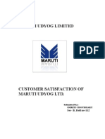 maruti customer satisfaction