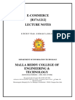 Ecommerce Digital Notes(IV-II Sem)