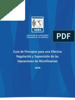 Guía de Principios para una Efectiva Regulación y Supervisión de las Operaciones de Microfinanzas
