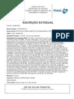 INSCRIÃ_Ã_O ESTADUAL - OS SEVERINOS
