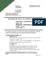 Sujet Bac STI Physique-Chimie Sujet I 2020