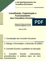 Constituição, Organização e Funcionamento dos Conselhos Escolares
