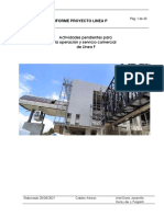 Informe Pendientes Línea P Para Operación Comercial