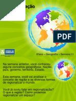 8º ano Geografia - Semana11 - Regionalização do espaço mundial