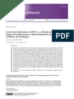 Artigo BELT - Internacionalização IFSulRS