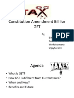 Constitution Amendment Bill for GST