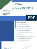 Dinamica Das Maquinas 2 - Aula 3