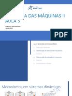 Dinamica Das Maquinas 2 - Aula 5